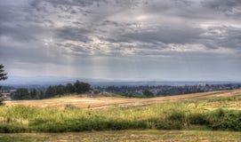 Het landschap van Salem, Oregon Stock Afbeeldingen