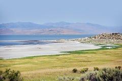 Het Landschap van Salt Lake Stock Afbeeldingen