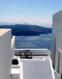 Het landschap van Santorini Stock Foto's