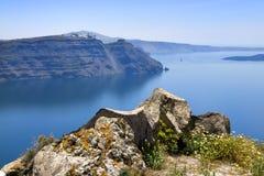 Het landschap van Santorini Stock Afbeeldingen
