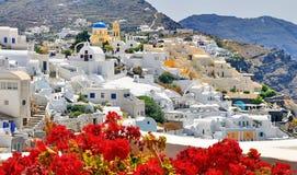 Het landschap van Santorinigriekenland royalty-vrije stock fotografie