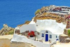 Het landschap van Santorinigriekenland stock afbeeldingen