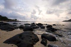 Het landschap van Sao Tomé Stock Afbeeldingen