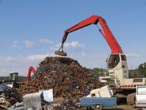 Het landschap van Scrapyard Stock Afbeelding
