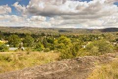 Het landschap van stadsheuvels Royalty-vrije Stock Foto's