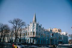 Het landschap van stadsmaart Tcherkassy, de Oekraïne, 24 Maart, 2018 Stock Afbeeldingen