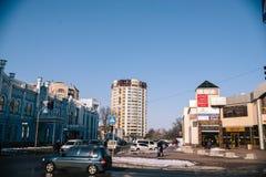 Het landschap van stadsmaart Tcherkassy, de Oekraïne, 24 Maart, 2018 royalty-vrije stock fotografie