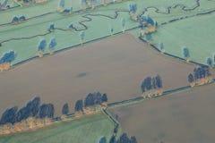 Het Landschap van Sussex van een Vliegtuig Royalty-vrije Stock Foto
