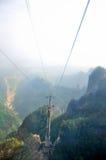 Het landschap van tianmen berg in zhangjiajie China Royalty-vrije Stock Foto's