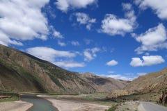 Het landschap van Tibet stock afbeelding