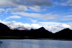 Het landschap van Tibet Stock Foto