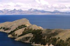 Het Landschap van Titicaca van het meer stock fotografie
