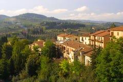 Het landschap van Toscanië - Italië Royalty-vrije Stock Afbeeldingen