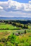 Het landschap van Toscanië, Italië, Europa Stock Afbeelding