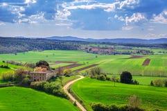 Het landschap van Toscanië, Italië, Europa Stock Afbeeldingen