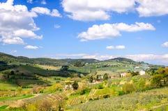 Het landschap van Toscanië, Italië, Europa Stock Foto