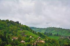 Het landschap van Transsylvanië Oud de stadscentrum â Roemenië van Brasov â Royalty-vrije Stock Afbeelding