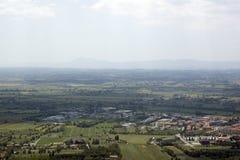 Het Landschap van Umbrië, Italië. Landschap dichtbij cortona Royalty-vrije Stock Afbeeldingen