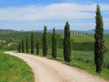 Het landschap van Val d'Orcia, Toscanië Stock Afbeelding