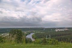 Het landschap van Vilnius stock afbeelding