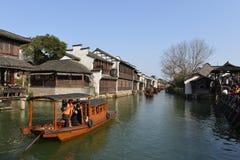 Het landschap van Wuzhen-stad in Zhejiang, China stock afbeeldingen