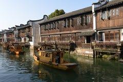 Het landschap van Wuzhen-stad in Zhejiang, China royalty-vrije stock fotografie
