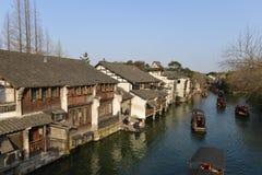 Het landschap van Wuzhen-stad in Zhejiang, China stock foto's