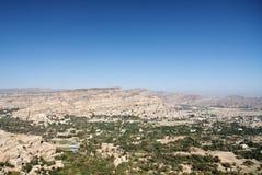 Het landschap van Yemen dichtbij sanaa stock foto