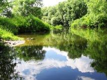 Het landschap van Zen met waterringen royalty-vrije stock foto