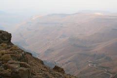 Het landschap van Zuid-Afrika en de pas Lesotho van het wildsani royalty-vrije stock fotografie