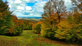 Het landschap zet orford magog Québec Canada op royalty-vrije stock fotografie