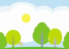 Het landschapsâ vectorillustratie van de zomer Stock Foto's