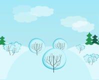 Het landschaps naadloos patroon van de winter Stock Afbeelding