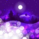 Het landschapsachtergrond van de winter Stock Afbeelding
