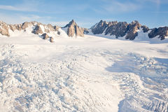 Het landschapsBerg Cook Nieuw Zeeland van de winter Stock Fotografie