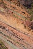 Het landschapslos Azulejos van Gran Canaria vulkanische kleurrijke rotsen hydromagmatic uitbarstingen royalty-vrije stock foto's