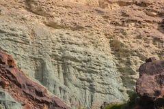 Het landschapslos Azulejos van Gran Canaria vulkanische kleurrijke rotsen hydromagmatic uitbarstingen royalty-vrije stock fotografie