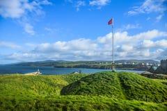 Het Landschapsmening van het Eiland Man stock foto's