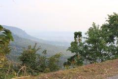 Het landschapspanorama van de berg, schoonheid van aard Stock Afbeelding