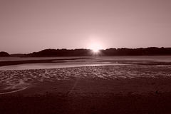 Het landschapspanorama van de zonsondergang Royalty-vrije Stock Foto