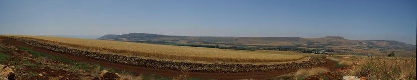 Het landschapspanorama van Galilee stock fotografie