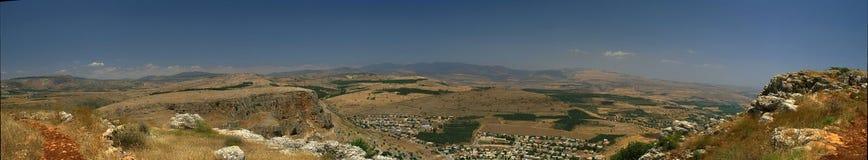 Het landschapspanorama van Galilee royalty-vrije stock foto's