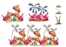 Het landschapsvoorwerp van de beeldverhaal ontwerpen het vectoraard met gescheiden lagen voor spelkunst en het animatiespel activ Royalty-vrije Stock Fotografie