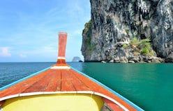 Het lange hoofd van de staartboot Stock Foto