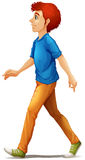 Het lange mens lopen Stock Afbeeldingen