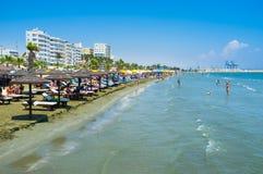 Het lange strand Royalty-vrije Stock Fotografie