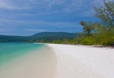 Het lange strand ob koh eiland van Rong in Kambodja Royalty-vrije Stock Foto