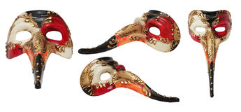 Het lange Venetiaanse Masker van de Neus Stock Afbeelding