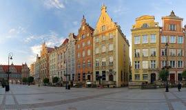 Het lange Vierkant van de Markt in Gdansk Royalty-vrije Stock Foto's