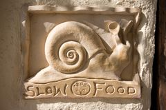 Het langzame Bericht van het Voedsel Stock Afbeelding